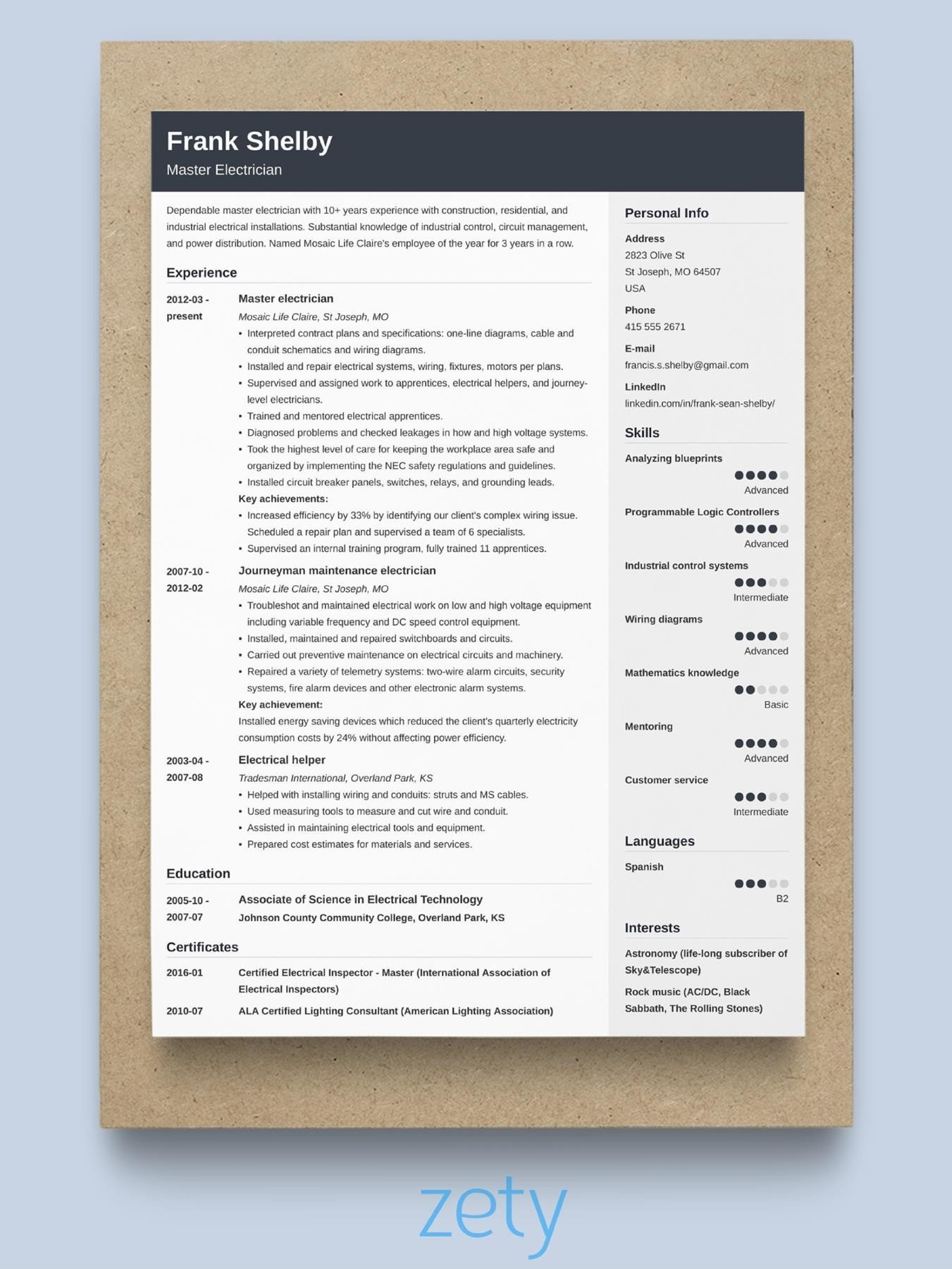 best resume format professional samples layout cover letter for internship looking Resume Best Resume Layout 2020