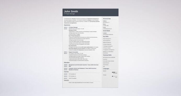best resume format professional samples perfect example action verbs boston college Resume Perfect Resume Example 2020