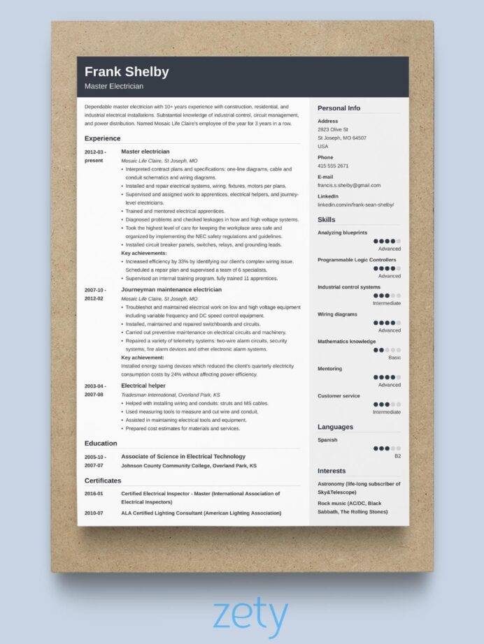 best resume format professional samples perfect example cover letter for nursing examples Resume Perfect Resume Example 2020