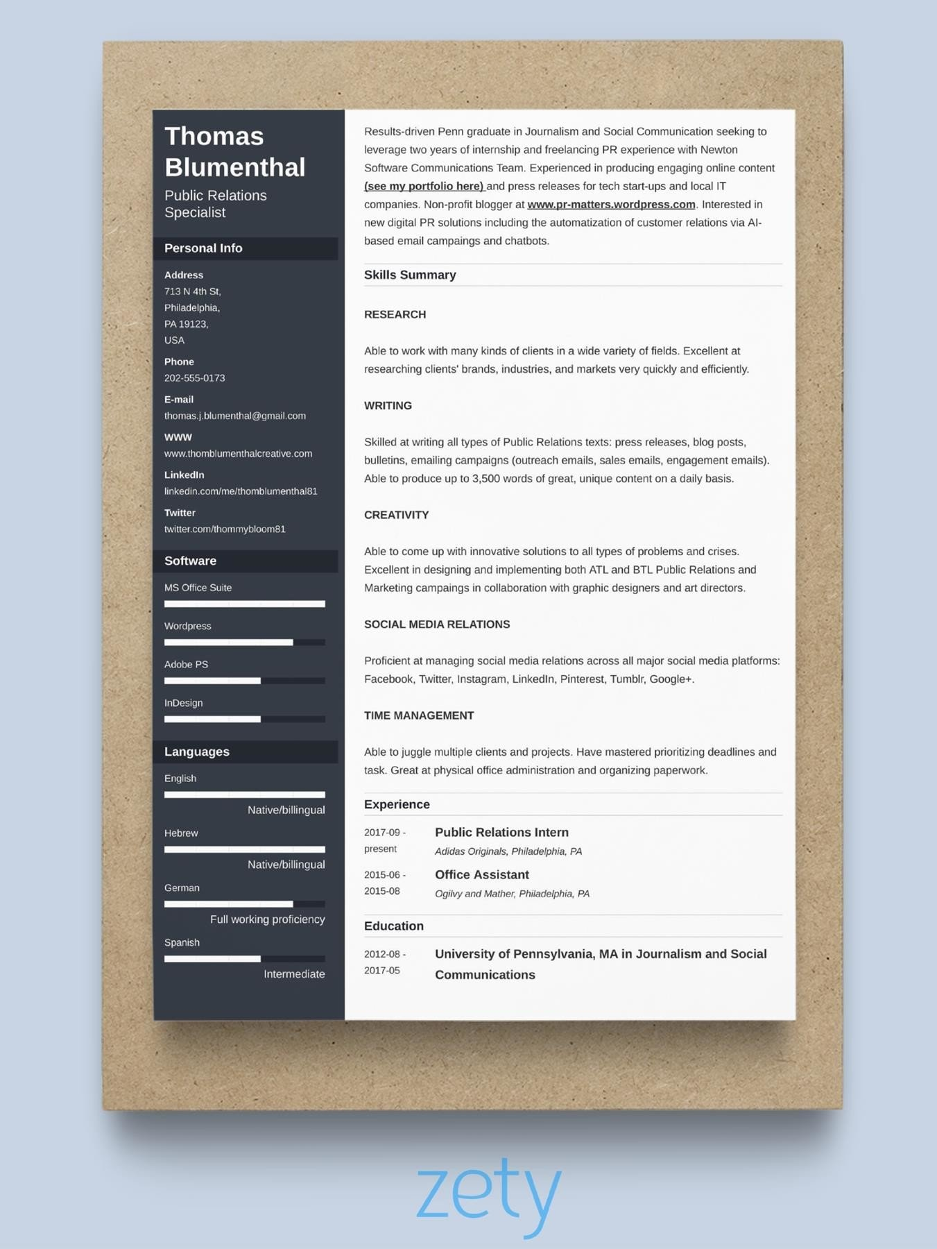 best resume format professional samples type up party planner sample really good Resume Type Up A Resume
