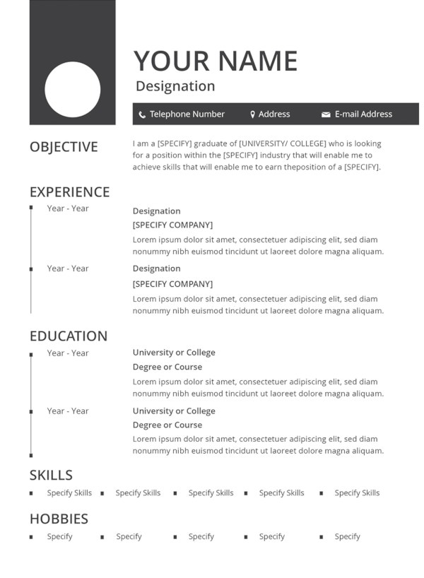 best resume formats pdf free premium templates new format blank template computer Resume Best New Resume Format