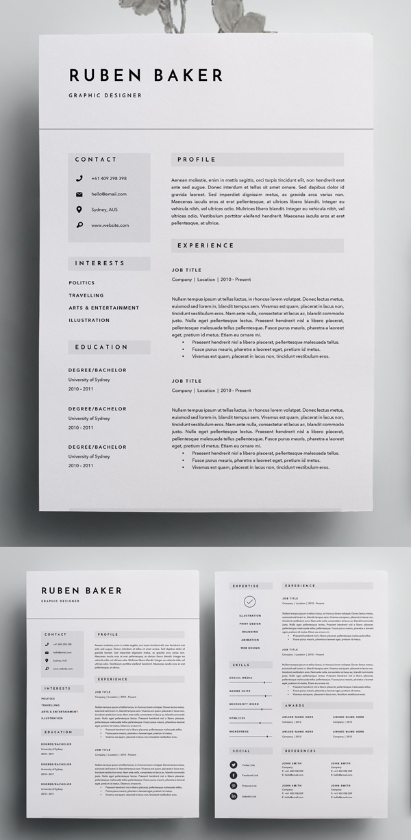 best resume templates for design graphic junction elementary teacher objective examples Resume Resume Templates For 2020