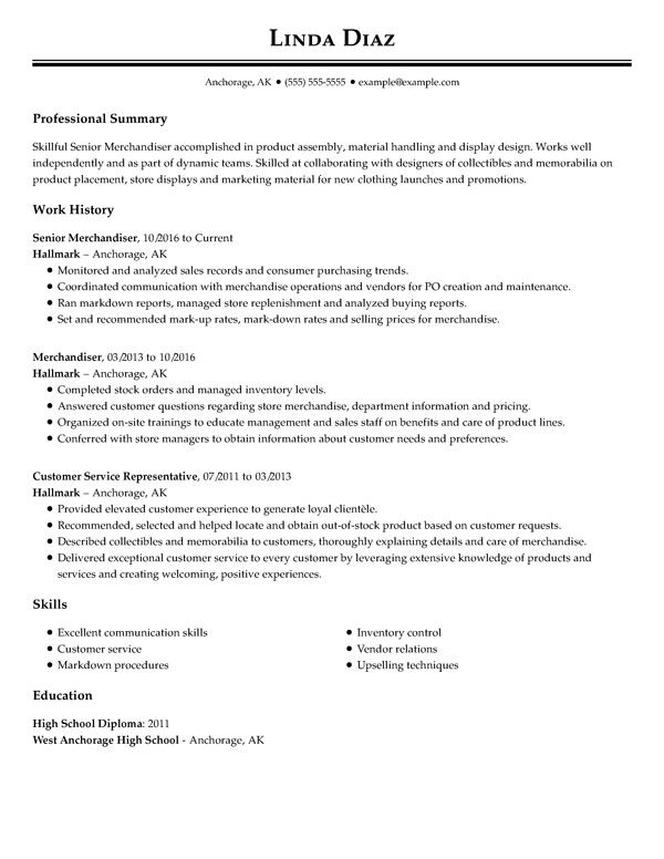 best resume templates for my perfect professional sample template senior merchandiser Resume Professional Sample Resume Template