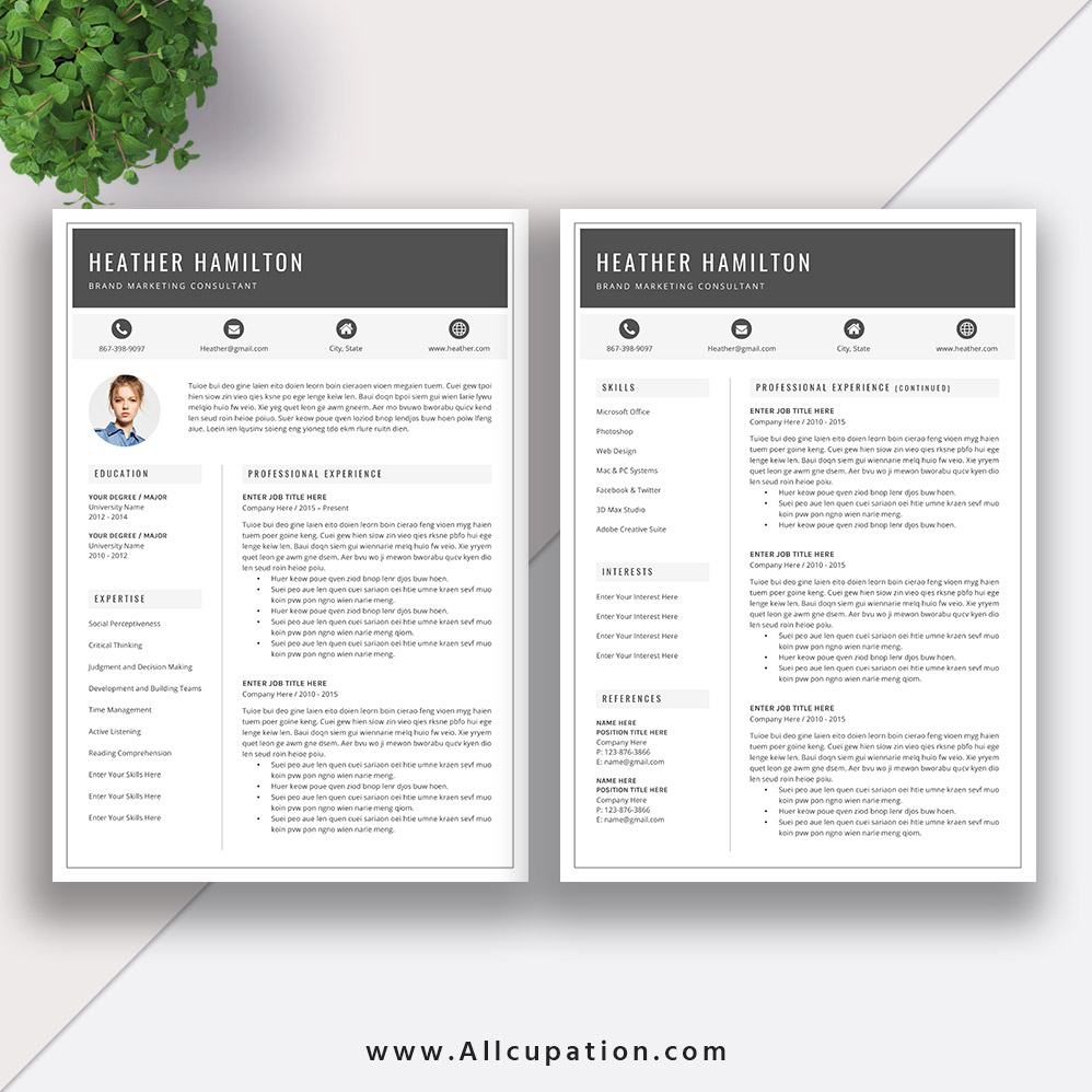 best selling resume bundle the anna rb word template cv layout cover letter professional Resume Millennial Resume Format