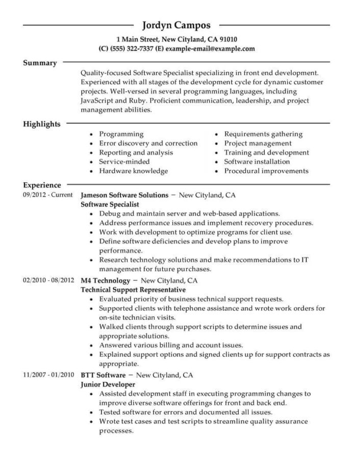 best software specialist resume example livecareer computer programs for computers Resume Computer Software Programs For Resume