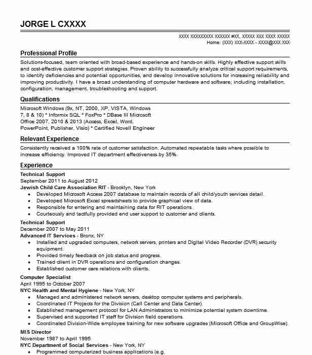 best technical support resume example livecareer customer engineer writing services local Resume Customer Support Engineer Resume