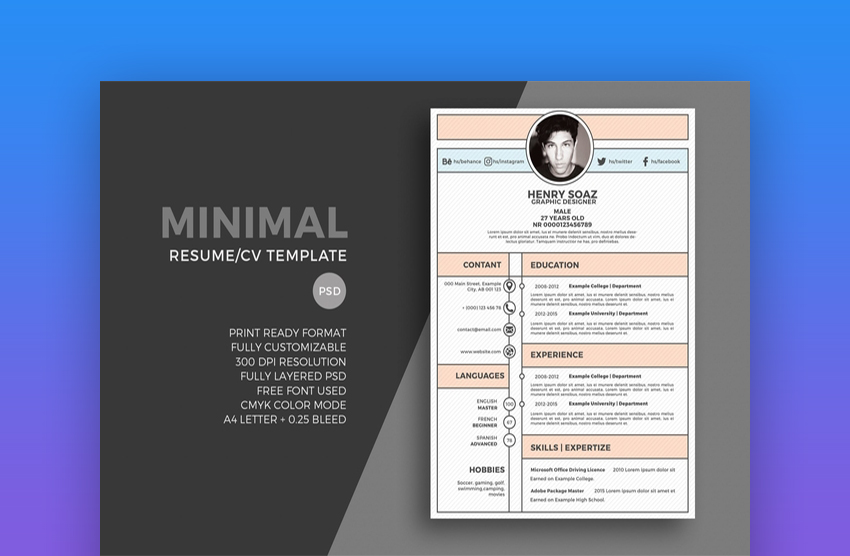 best web graphic designer resume cv templates examples for professional envato another Resume Professional Web Designer Resume
