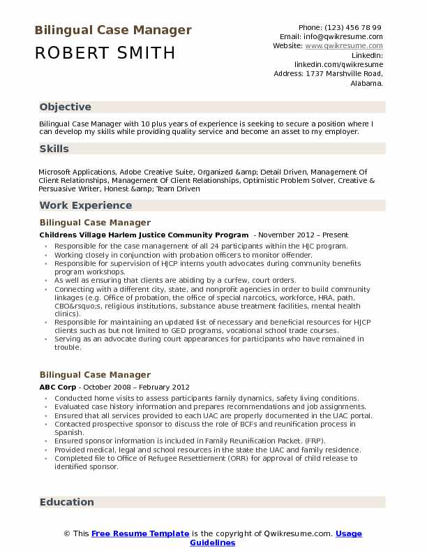 bilingual case manager resume samples qwikresume examples pdf spiritual planner objective Resume Case Manager Resume Examples