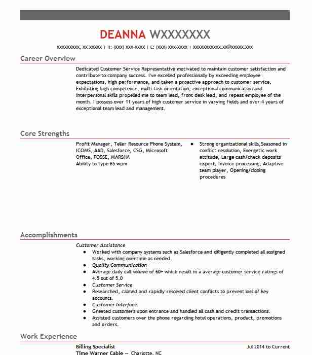 billing specialist resume example accountant resumes livecareer medical college graduate Resume Medical Billing Specialist Resume