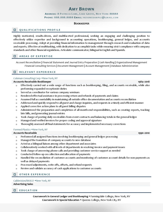 bookkeeper duties and responsibilities resume description of for examples administrative Resume Description Of Bookkeeper Duties For Resume