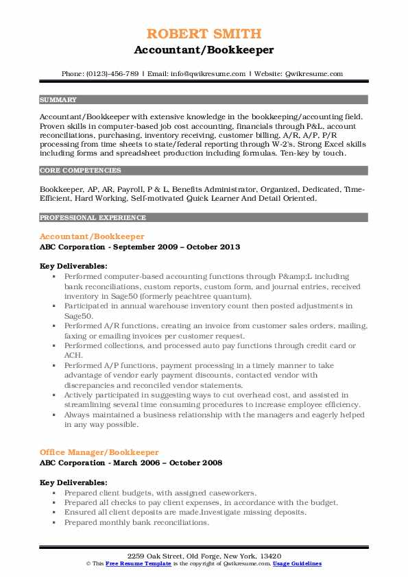 bookkeeper resume samples qwikresume description of duties for pdf free templates Resume Description Of Bookkeeper Duties For Resume