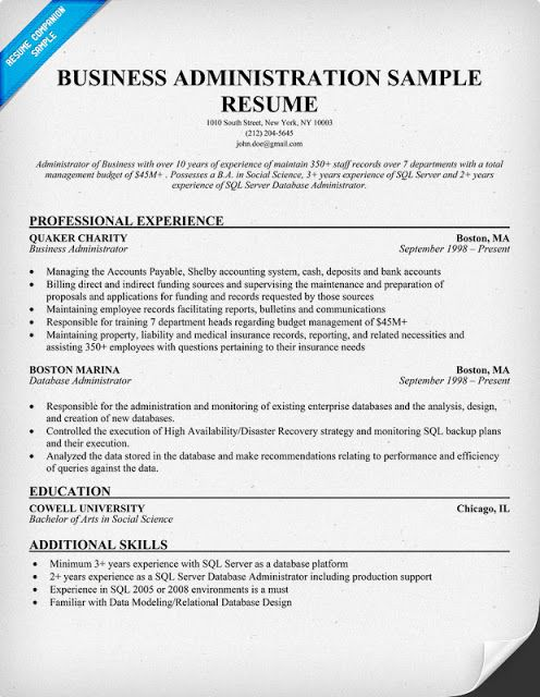 business administration resume samples examples professional bachelor of sample pension Resume Bachelor Of Business Administration Resume Sample