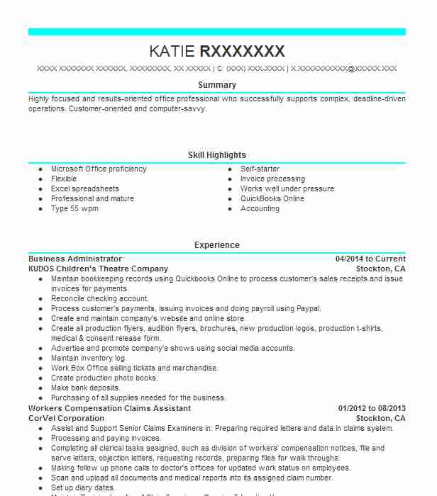 business administrator resume example livecareer bachelor of administration sample for Resume Bachelor Of Business Administration Resume Sample