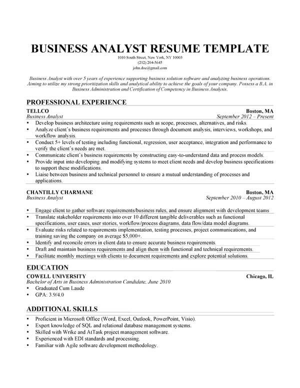 business analyst resume samples agile summary first time job problem solving skills Resume Problem Solving Skills Resume