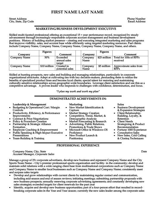 business development executive resume template premium samples example professional with Resume Business Development Executive Resume