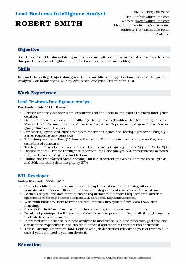 business intelligence analyst resume samples qwikresume pdf skills for engineers material Resume Business Intelligence Analyst Resume