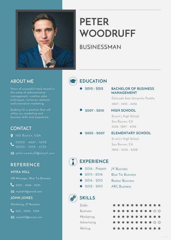 business resume templates pdf free premium standard format template brain phlebotomist Resume Standard Business Resume Format
