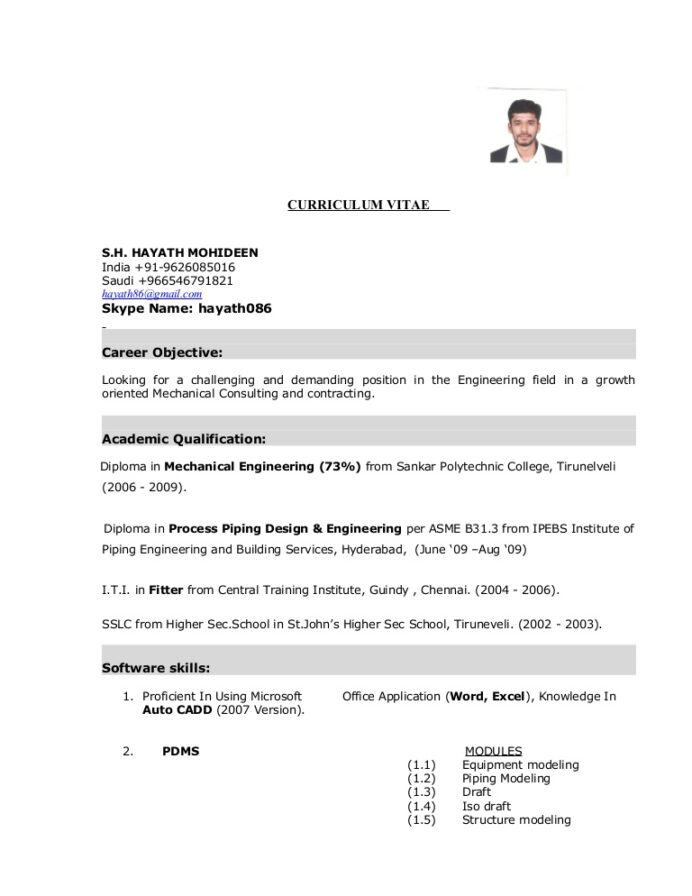 buyer resume objective examples mechanical fitter format for mba admission branding Resume Mechanical Fitter Resume