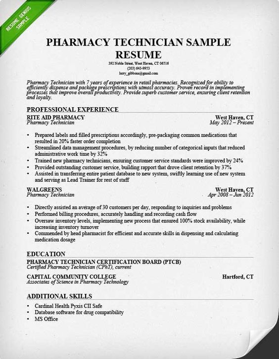 by pharmacy tech resume samples format technician example math and science teacher box Resume Pharmacy Technician Resume Example