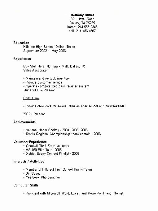 by resume samples for first job format student science graduates certified medical Resume First Job Student Resume