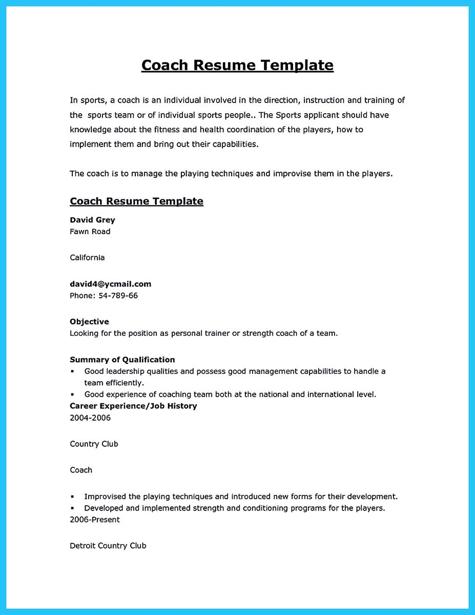 captivating thing for perfect and acceptable basketball coach resume objective coaching Resume Objective For Coaching Resume