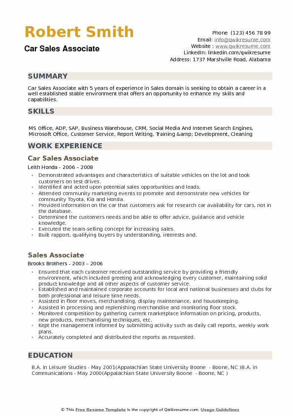 car associate resume samples qwikresume examples pdf qualification summary template Resume Car Sales Resume Examples