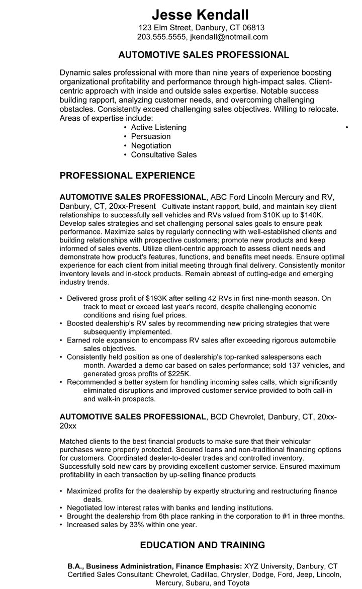 car salesman resume example examples salesperson example3 builder microsoft word writing Resume Car Sales Resume Examples