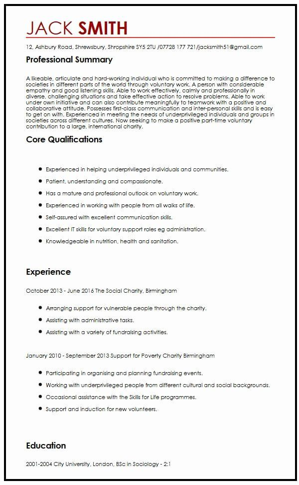 career aspirations examples resume another word for volunteer experience on process Resume Career Aspirations Examples Resume