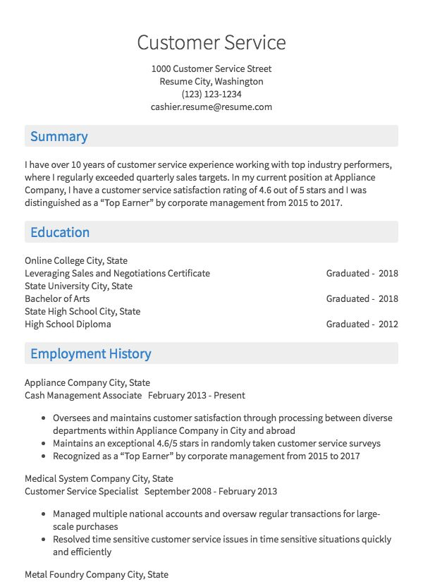 cashier resume samples all experience levels customer service model mini cards traits for Resume Cashier Customer Service Resume