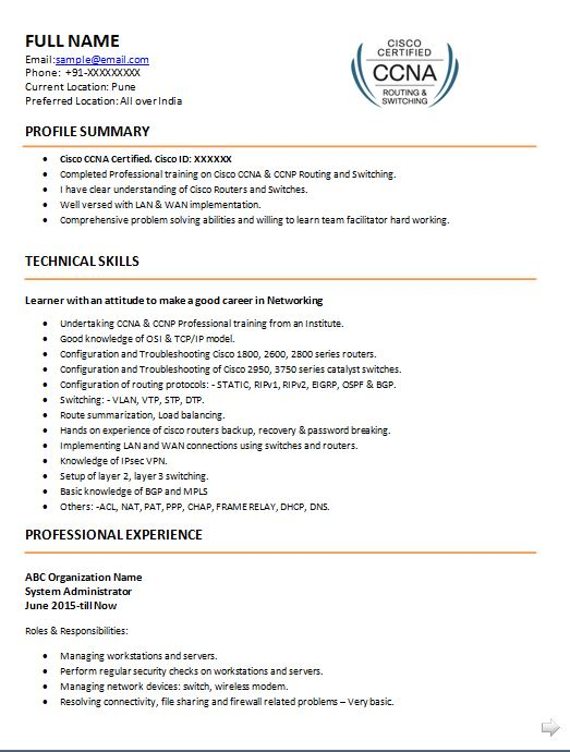 ccna resume samples top templates in for network engineer with fresher sample lpn new Resume Entry Level Network Engineer Resume Sample