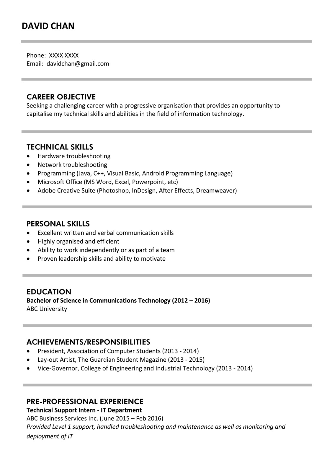 chemist resume example professional experienced sample best for fresh graduate formal Resume Example Of Best Resume For Fresh Graduate
