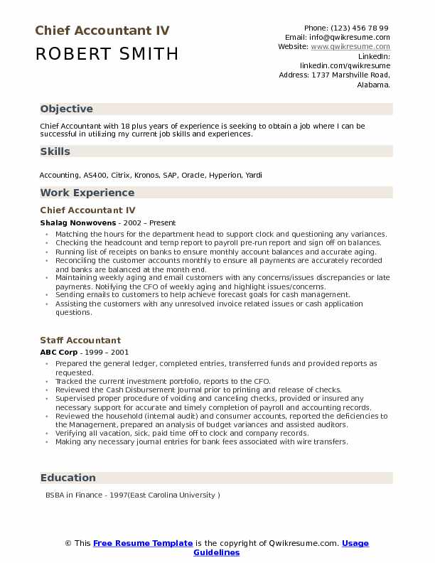 chief accountant resume samples qwikresume accounting objective statements pdf strategic Resume Accounting Resume Objective Statements