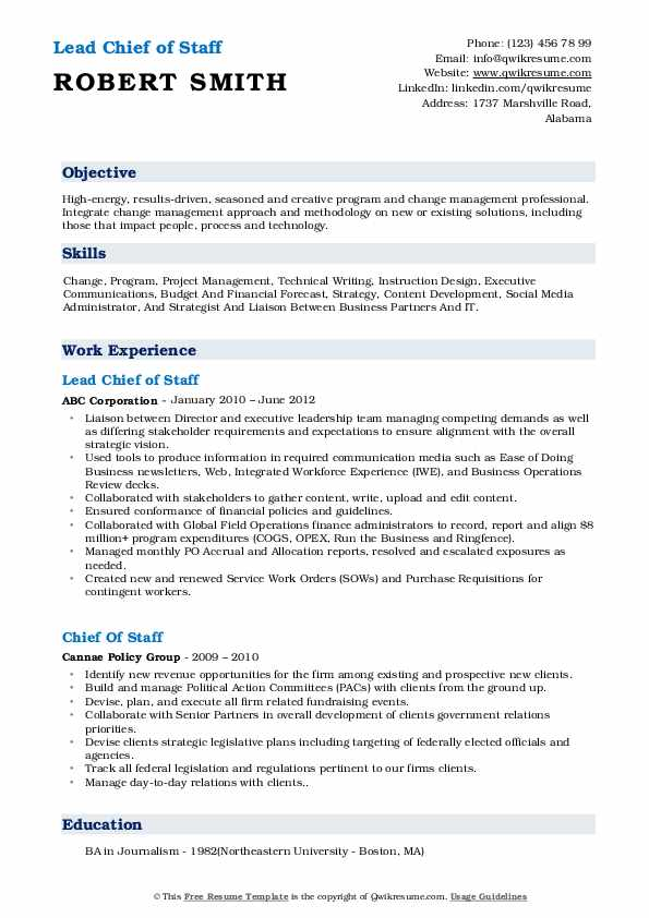 chief of staff resume samples qwikresume job pdf cnet software format for freshers Resume Chief Of Staff Job Resume