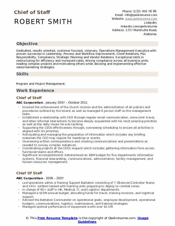 chief of staff resume samples qwikresume job pdf good buzz words entry level marketing Resume Chief Of Staff Job Resume