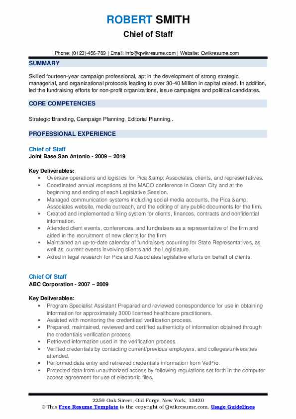 chief of staff resume samples qwikresume job pdf theatrical format for freshers customer Resume Chief Of Staff Job Resume