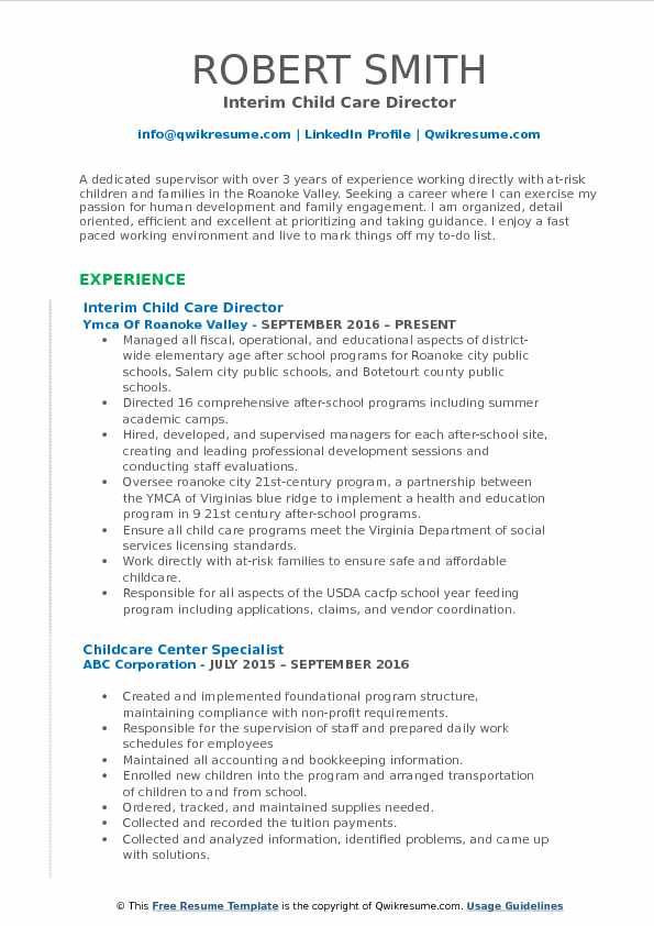 child care director resume samples qwikresume cover letter pdf indeed apply with cara Resume Child Care Director Resume Cover Letter