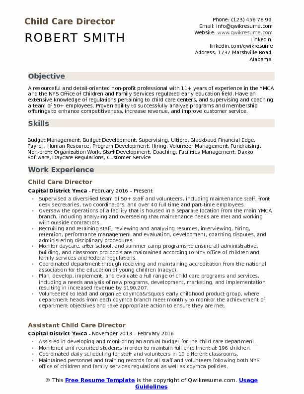 child care director resume samples qwikresume example of pdf consulting examples skills Resume Example Of A Child Care Resume