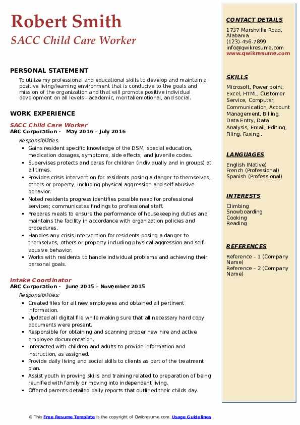 child care worker resume samples qwikresume example of pdf firewall experience skills and Resume Example Of A Child Care Resume