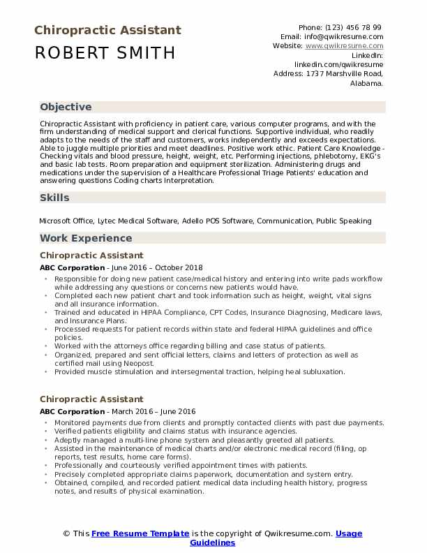 chiropractic assistant resume samples qwikresume pdf tips for great creating that stands Resume Chiropractic Assistant Resume