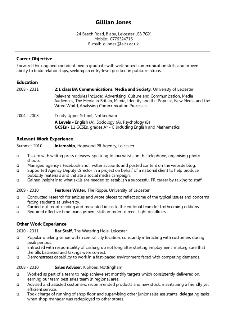 chronological order curriculum vitae resume example cv executive assistant relationship Resume Chronological Order Resume