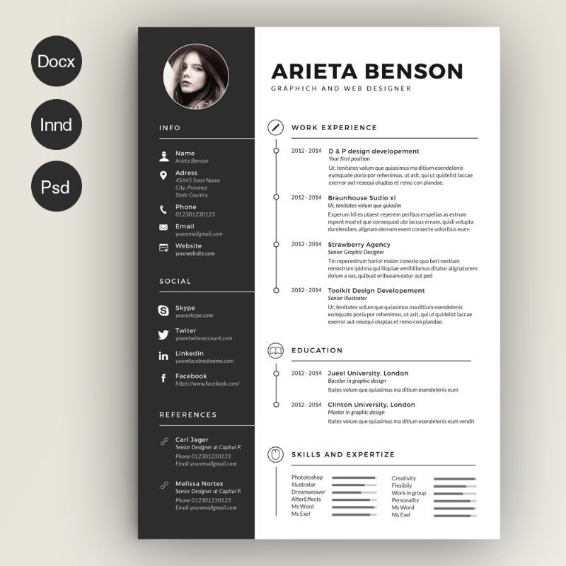 civil engineer resume template word and indesign format creative templates graphic design Resume Civil Engineering Resume Templates Word