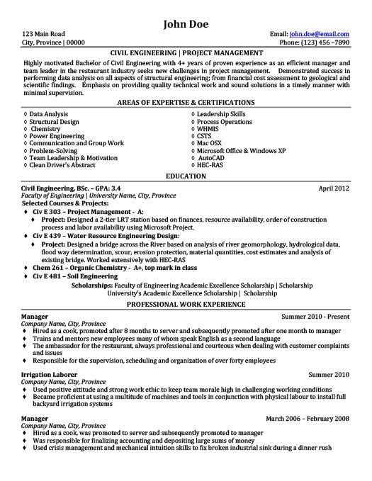civil engineering project management resume template premium samples manager projects Resume Engineering Project Manager Resume Examples