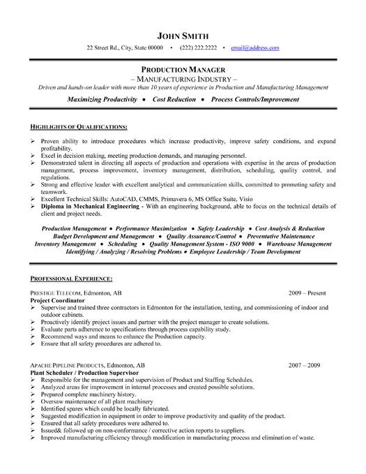 click here to this project manager resume template http resumetemplates101 engineering Resume Engineering Project Manager Resume Examples
