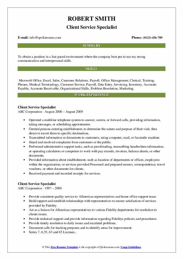 client service specialist resume samples qwikresume customer pdf basic examples warehouse Resume Customer Service Specialist Resume
