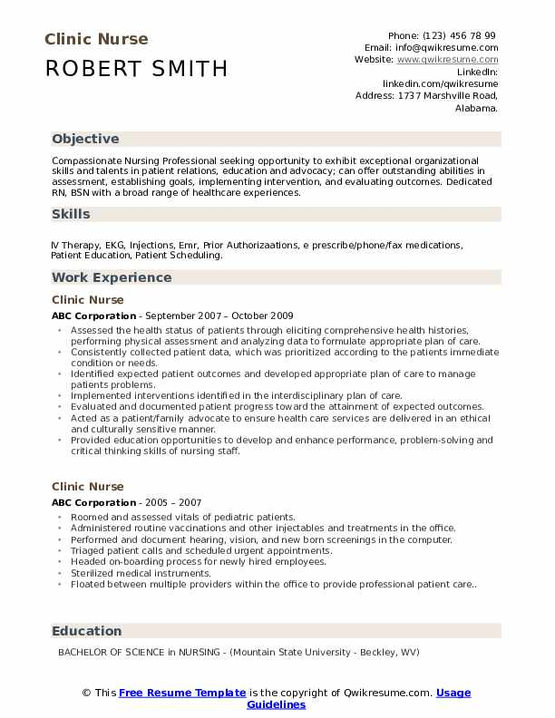 clinic nurse resume samples qwikresume experienced registered pdf career objective for Resume Experienced Registered Nurse Resume