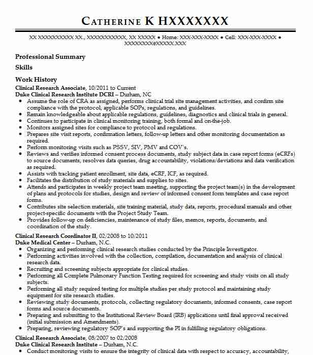 clinical research associate resume example medical resumes executive engineering Resume Research Executive Resume