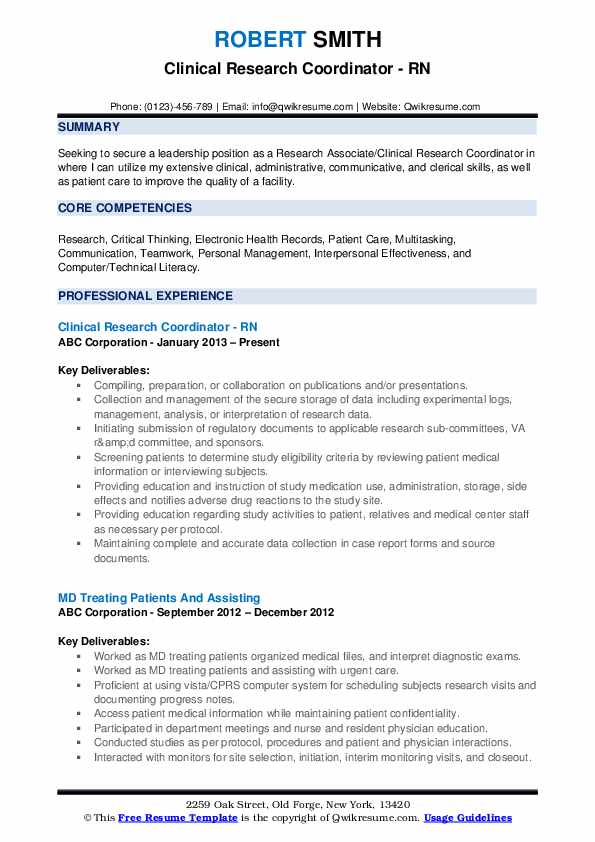 clinical research coordinator resume samples qwikresume senior pdf federal creator Resume Senior Clinical Research Coordinator Resume