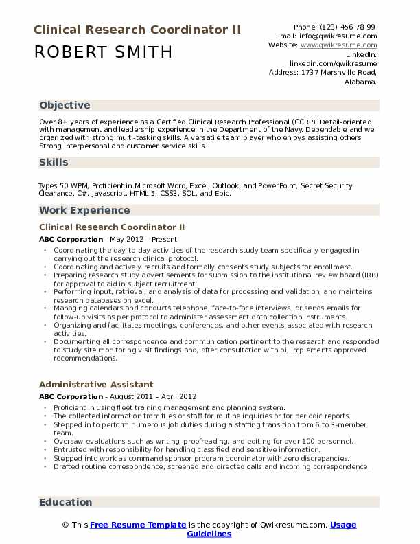 clinical research coordinator resume samples qwikresume senior pdf microsoft assistant Resume Senior Clinical Research Coordinator Resume