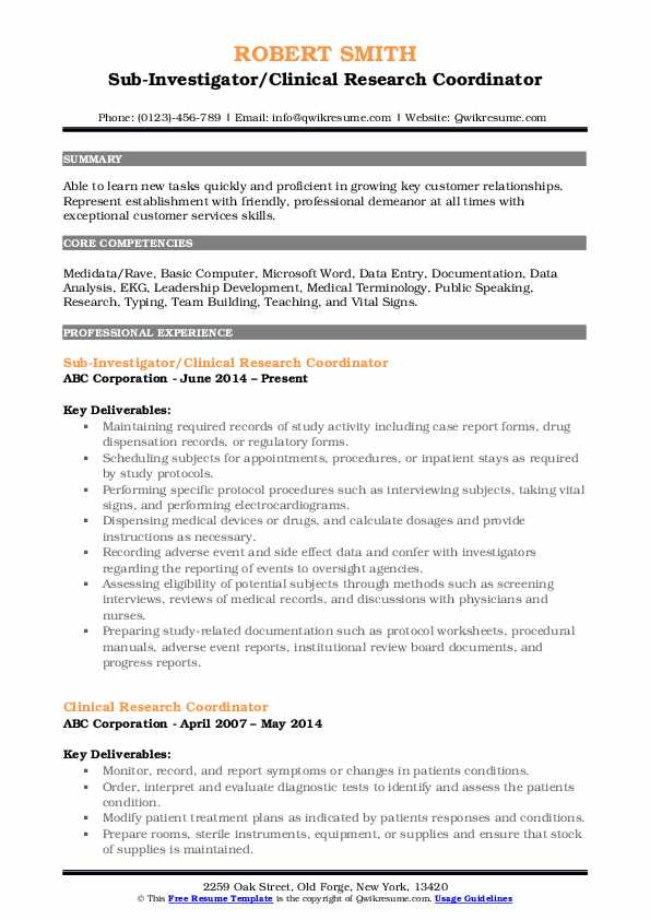 clinical research coordinator resume samples qwikresume senior pdf outline education Resume Senior Clinical Research Coordinator Resume