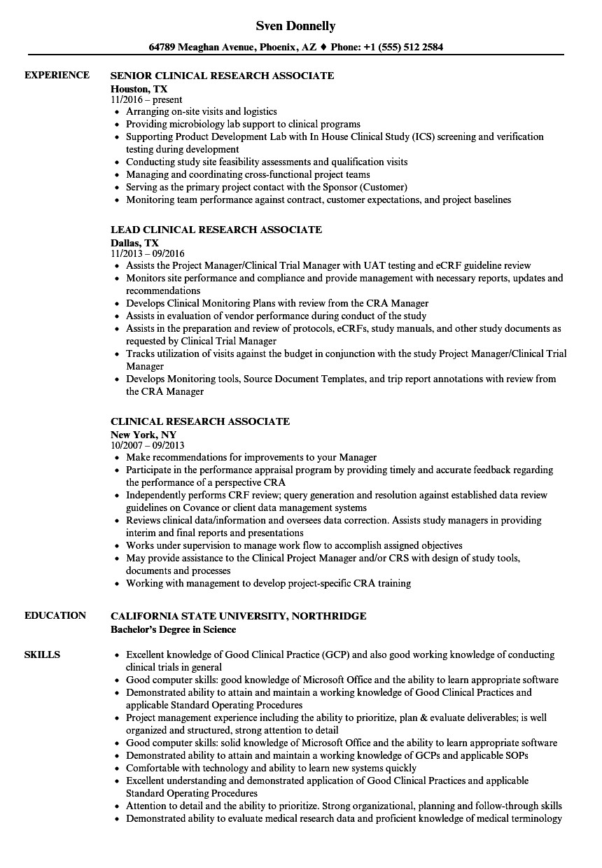 clinical trial coordinator cover letter march senior research resume sample corporate Resume Senior Clinical Research Coordinator Resume